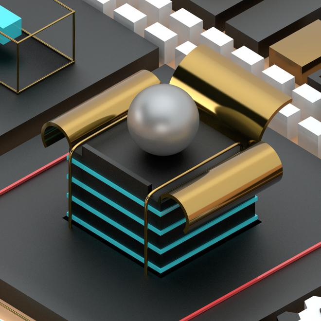 golden world isometric 3